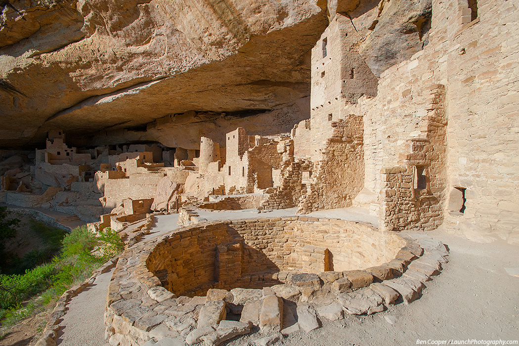 Attractive Cliff Palace, Above And Below, Square Tower House Below; And Trees Located  At The Highest Point In The Park.