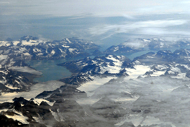 Greenland's mountains, glaciers and fjords: